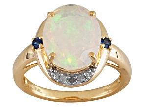 Ethiopian Opal 10k Yellow Gold Ring 2.25ctw.
