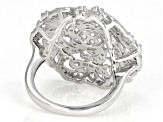 White Zircon Rhodium Over Sterling Silver Ring 2.10ctw