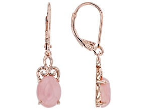 Pink Opal 18K Rose Gold Over Sterling Silver Dangle Earrings