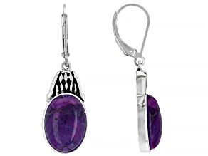 Purple Turquoise Sterling Silver Earrings