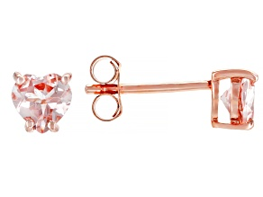 Pink Morganite 18k Rose Gold Over Silver Earrings .63ctw