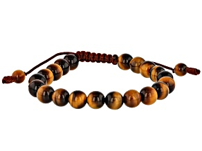 Brown Tigers Eye Adjustable Bracelet