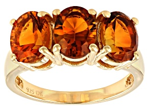 Orange Madeira Citrine 18K Yellow Gold Over Sterling Silver Ring 2.55ctw
