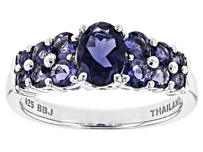 Purple Iolite Sterling Silver Ring 1.23ctw