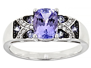 Picture of Blue Tanzanite Sterling Silver Ring 1.44ctw