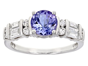 Blue Tanzanite Sterling Silver Ring 1.89ctw