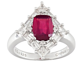Mahaleo Ruby Sterling Silver Ring 2.96ctw