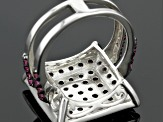 Purple Rhodolite Sterling Silver Ring 2.46ctw