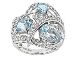 Sky Blue Topaz Sterling Silver Ring 5.10ctw