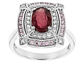 Mahaleo Ruby Sterling Silver Ring 1.97ctw