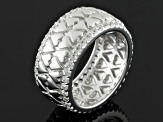 White Zircon Sterling Silver Band Ring 1.52ctw