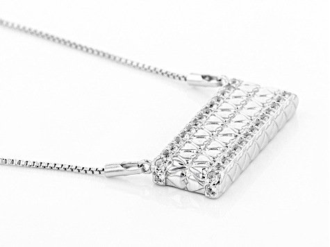 White Zircon Sterling Silver Necklace 1.70ctw