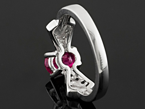 Red Ruby Sterling Silver Ring .81ctw