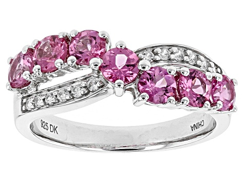 Pink Spinel Sterling Silver Ring 1.33ctw