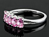 Pink Spinel Sterling Silver Band Ring 1.06ctw