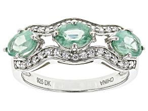 Mint Kyanite Sterling Silver Ring 1.48ctw