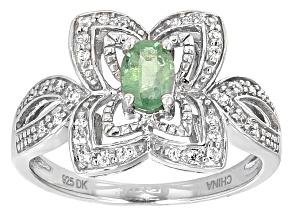 Mint Green Kyanite Sterling Silver Ring .63ctw