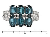 Teal Chromium Kyanite Sterling Silver Ring 3.46ctw