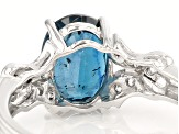 Blue Chromium Kyanite Sterling Silver Ring 2.09ctw