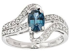 Blue Kyanite Sterling Silver Ring 1.14ctw