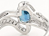Blue Kyanite Sterling Silver Ring 1.14ctw