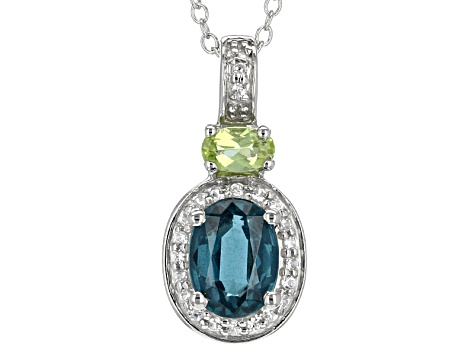 Teal Chromium Kyanite Sterling Silver Pendant With Chain 1.69ctw