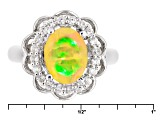 Ethiopian Opal Sterling Silver Ring 1.13ctw