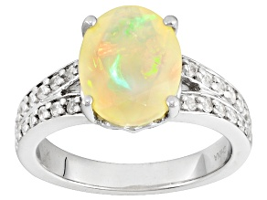 Ethiopian Opal Sterling Silver Ring 1.46ctw