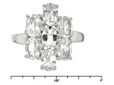 White Goshenite Sterling Silver Cluster Ring 2.49ctw