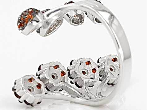 Red Garnet Sterling Silver Ring 1.51ctw
