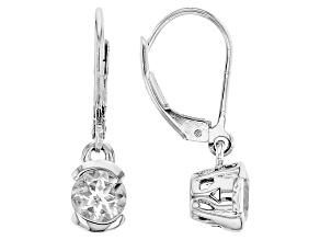 White Goshenite Sterling Silver Earrings 1.34ctw