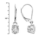 White Goshenite Sterling Silver Earrings 1.34ctw