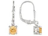 Golden Hessonite Sterling Silver Solitaire Earrings .96ctw