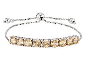 Golden Hessonite Sterling Silver Sliding Adjustable Bracelet 4.78ctw