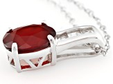 Red Hessonite Sterling Silver Pendant With Chain 2.24ctw