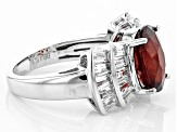 Red Hessonite Garnet Sterling Silver Ring 5.63ctw