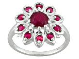 Mahaleo Ruby Sterling Silver Ring 1.43ctw