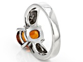 Red Hessonite Sterling Silver Solitaire Ring 2.55ct