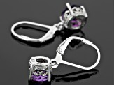 Purple Uruguayan Amethyst Sterling Silver Earrings 1.70ctw