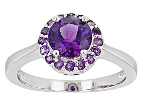 Purple Uruguayan Amethyst Sterling Silver Ring 1.32ctw
