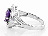 Purple Uruguayan Amethyst Sterling Silver Ring 2.50ctw