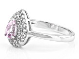 Pink Topaz Sterling Silver Ring .72ctw