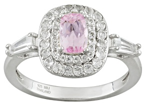Pink Topaz Sterling Silver Ring 1.19ctw