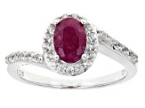 Red Ruby Sterling Silver Ring 1.08ctw