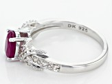 Red Ruby Sterling Silver Ring 1.23ctw