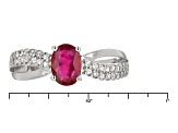 Red Ruby Sterling Silver Ring .92ctw