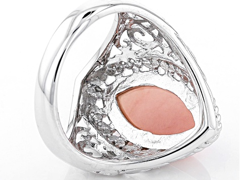 Pink Peruvian Opal Sterling Silver Solitaire Ring