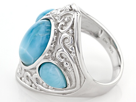 Blue Larimar Sterling Silver Ring