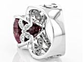 Red indian Ruby Sterling Silver Ring 8.53ctw