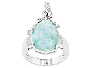 Blue Larimar Sterling Silver Mermaid Ring